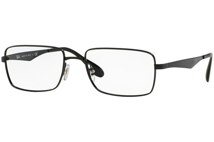Ray-Ban RX6329 2509 Musta Materiaali Metalli Miesten silmälasit ... 303a84e63e