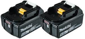 Makita BL1850B Twinpack (197288-2) 18V 2x5,0Ah Li-ion, työkaluakku 2 kpl