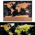 Scratch map, raaputuskartta 82 x 60 cm + maiden liput