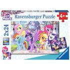 RAVENSBURGER Palapeli, My little Pony: Taianomaiset ponit, 2 x 24 palaa