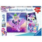 RAVENSBURGER Palapeli, My little Pony: Seikkailu ponien kanssa, 3 x 49 palaa