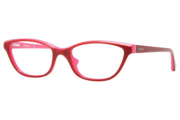 Vogue VO2748 1990 Punainen Materiaali Asetaatti Naisten silmälasit ... 552a5a8bc3