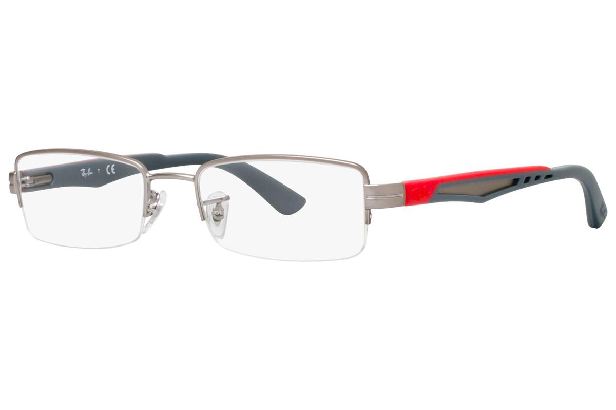 Ray-Ban RX6264 2620 Harmaa Materiaali Metalli Miesten silmälasit ... f393ab974a