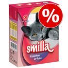 Smilla Chunks in Jelly säästöpakkaus 24 x 380 g - lajitelma: kana & kalkkuna + nauta