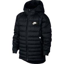 Nike Untuvatakki NSW - Musta/Valkoinen Lapset
