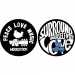 Woodstock: Peace Love Music Slipmats (2KPL)