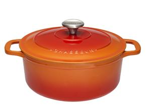 Chasseur Pata Pyöreä 6.3 L Valurauta Flame Orange