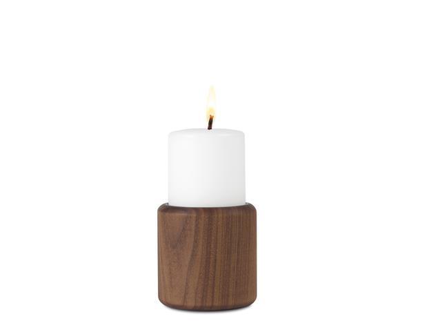 Nuance Baldur Kynttilänjalka Saksanpähkinä 9 cm Puu