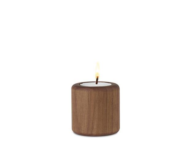 Nuance Baldur Monikäyttöinen Kynttilänjalka 6 cm Saksanpähkinä