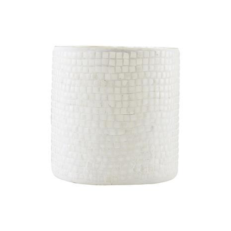 House Doctor Bricks Kynttilälyhty 10 cm Valkoinen