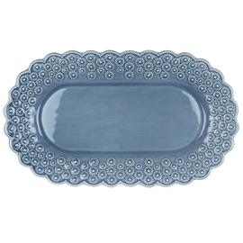 PotteryJo Ditsy Tarjoiluvati Ovaali 34 x 24 cm Dusty Blue