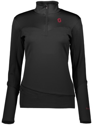Scott Defined Mid Half Zip Tech Tee LS black Naiset