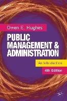 Public Management and Administration (Owen Hughes), kirja