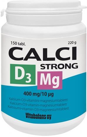 Vitabalans Calci Strong + Magnesium + D3