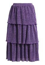 NAKD TRIPLE LAYER SPARKLE Alinjainen hame purple