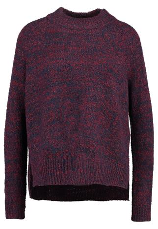 Vero Moda VMLONE Neule dark red, mottled dark blue