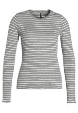 ONLY ONLELLA Pitkähihainen paita dark grey melange/cloud dancer