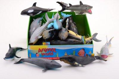 Havets djur i mjukt material, 25cm