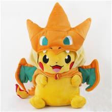 Pokemon Pikachu with Charizard Hat! Plush