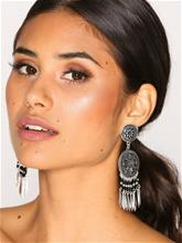 NLY Accessories Ethnic Disc Earrings Korvakorut Harmaa/musta