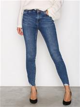 New Look Fray Hem Skinny Jeans Skinny Blue