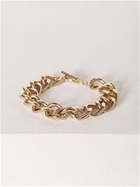 NLY Accessories Bar Chain Bracelet Rannekorut Kulta