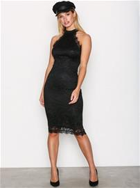 Ax Paris High Neck Lace Dress Kotelomekot Black