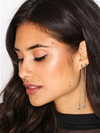 NLY Accessories Moon Star Chain Earrings Korvakorut Hopea