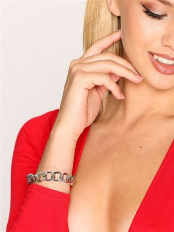 NLY Accessories Bar Chain Bracelet Rannekorut Hopea