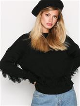 Y.A.S Yasfringe Knit Pullover Neulepuserot Musta