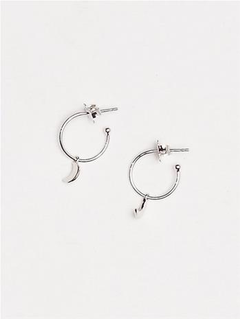 SOPHIE By SOPHIE Mini Hoops Moon Korvakorut Hopea