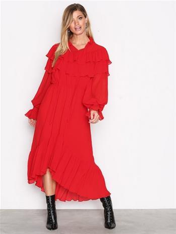 Y.A.S Yasgaho L/S Dress Pitkähihaiset mekot Tummanpunainen