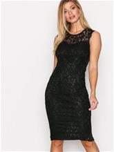 Ax Paris Sleveless Bodycon Lace Dress Kotelomekot Black