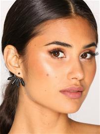NLY Accessories Faceted Bead Front & Back Earrings Korvakorut Musta