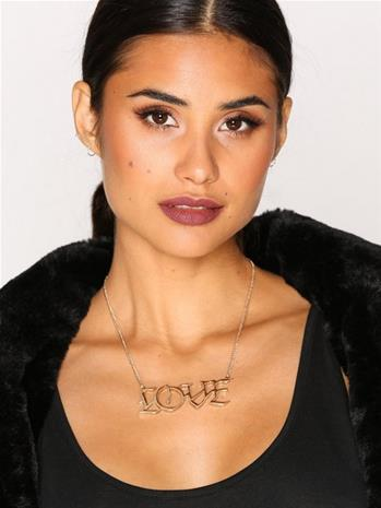 NLY Accessories Statement Love Necklace Kaulakorut Kulta