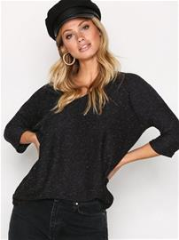 New Look Textured Tally V-Neck T-Paidat Charcoal