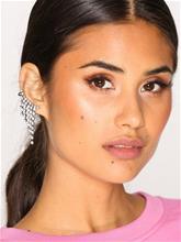 NLY Accessories Rhinestone Drape Cuff Earrings Korvakorut Hopea