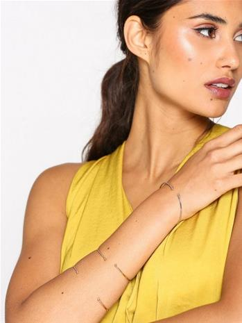 NLY Accessories Fine Open Bangle Set Rannekorut Multicolor