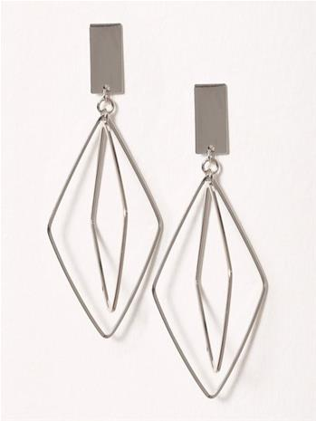 NLY Accessories Geo Drop Earrings Korvakorut Hopea