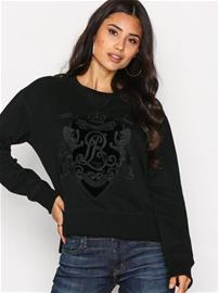 Polo Ralph Lauren Long Sleeve Crew Neck W Knit Top Pitkähihaiset paidat Black