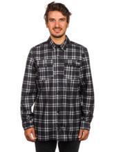 Volcom Drip Bonded Flannel Shirt LS black white Miehet