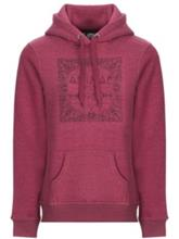 Animal Sketched Hoodie bordeaux red marl Naiset