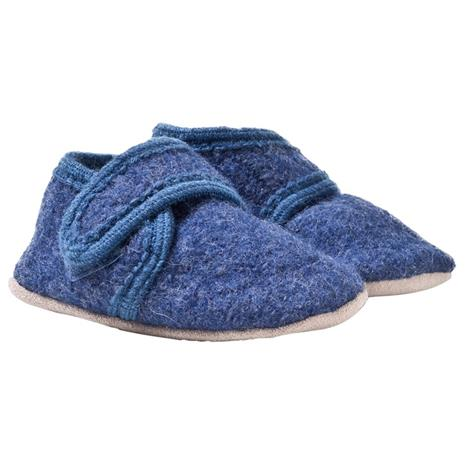 Baby Wool Shoe Blue Melange17 EU
