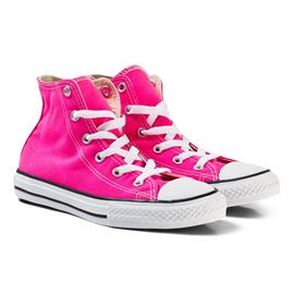 Pink and White Kids Chuck Taylor All Star - Hi27 (UK 10)