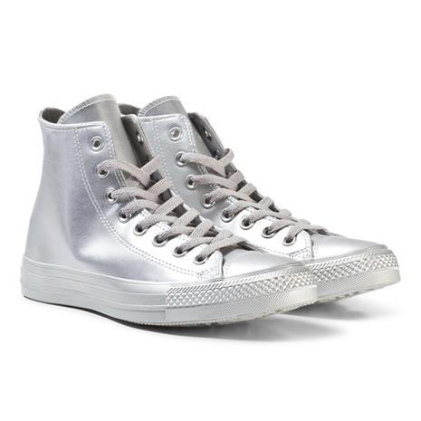 Silver Junior Chuck Taylor All Star - Hi36 (UK 3.5)