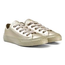Gold Kids Chuck Taylor All Star Metallic Leather - OX31.5 (UK 13)