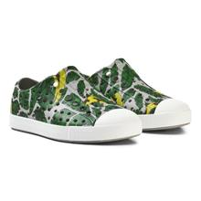 Grey Leaf Print Jefferson Rubber Trainers22 (UK 5)