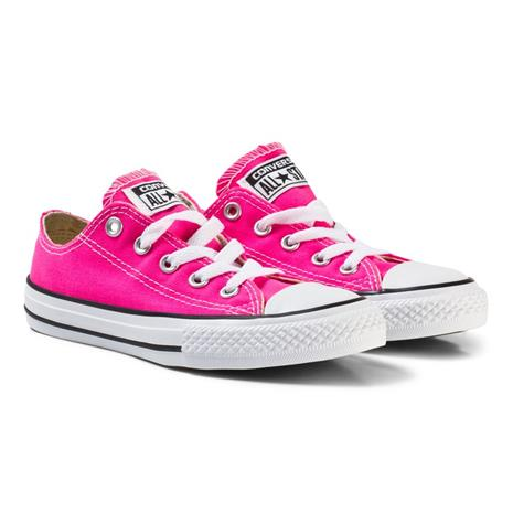 Pink and White Kids Chuck Taylor All Star - OX27 (UK 10)