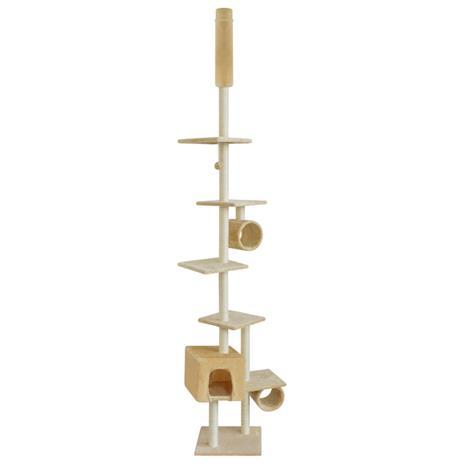 vidaXL Kissan Raapimispuu 260 cm Keltainen