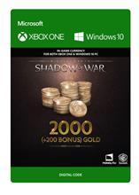 Middle Earth: Shadow of War - 2000 (+200 Bonus) Gold, PC -peli